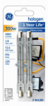 G E Lighting 85047 2-Pack 300-Watt Quartz Line Halogen Heavy-Duty Lamps