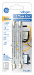 G E Lighting 85048 Quartzline Halogen Heavy-Duty Lamps, 500-Watt, 2-Pk.