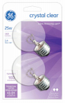 G E Lighting 31106 2-Pack 25Watt Clear Incandescent Globe Bulbs