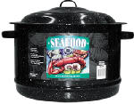 Columbian Home Products 6318 Graniteware Ceramic-On-Steel 19-Qt. Lobster Pot