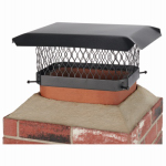 Hy-C SC913 Chimney Cap, Black Steel, 9 x 13-In.
