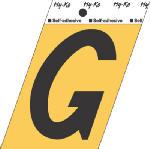 Hy-Ko Prod GG-25/G 3-1/2-Inch Black/ Gold Aluminum Adhesive Letter G