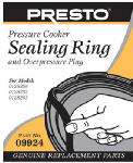 National Presto Ind 09924 Pressure Canner Sealing Ring With Automatic Air Vent