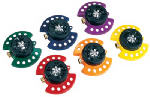 Dramm 10-15020 Turret Sprinkler, 9-Pattern, Metal Assorted Colors