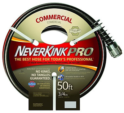 NeverKink 3/4 Inch x 50 Ft. Commercial Duty Garden Hose 031724988459