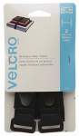 Velcro Usa Consumer Pdts 90441 All-Purpose Velstrech Fastening Straps, Elastic, Black, 27 x 1-In. 2-Ct.