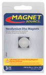 Master Magnetics 07047 3 Piece neodymium Super Magnets