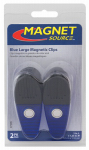 Master Magnetics 07506 2 Piece Large Magnetic Clips, Blue