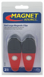 Master Magnetics 07520 2 Large Red Magnetic Clips