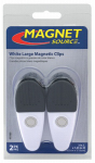 Master Magnetics 07523 2 Large White Magnetic Clips