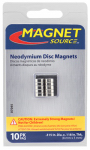 Master Magnetics 07045 10 Piece Neodymium Super Magnets