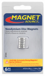 Master Magnetics 07046 6 Piece Neodymium Super Magnets