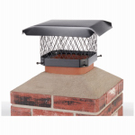 Hy-C SC99 Chimney Cap, Black Steel, 9 x 9-In.