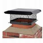 Hy-C SC1313 Chimney Cap, Black Steel, 13 x 13-In.
