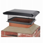 Hy-C SC1318 Chimney Cap, Black Steel, 13 x 18-In.