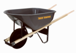 Ames True Temper C6 Professional Wheelbarrow, Steel, 6-Cu. Ft.