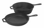 Lodge Mfg LCC3 Skillet/Griddle, With Lid, Seasoned Cast Iron, 10-1/4-In.