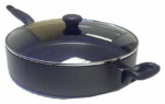 T-Fal/Wearever A7978284 Get A Grip Black Jumbo Cooker With Glass Cover