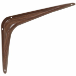 National Mfg N185-025 Steel Shelf Bracket, Wood-Look, 6 x 8-In.