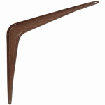 National Mfg N185-041 10 x 12-Inch Fruitwood Steel Shelf Bracket
