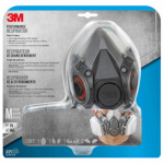 3M 6211PA1-A Tekk Protection Half-Mask Organic Vapor/P95 Respirator Assembly, Medium