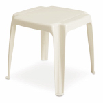 Adams Mfg 8115-48-3700 Outdoor Side Table, White, 17-In. Square