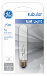 G E Lighting 22114 15-Watt Clear Exit Sign Light Bulb