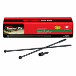 Omg FMTLOK10-50 Timberlok Wood Screws, 10-In., 50-Pk.