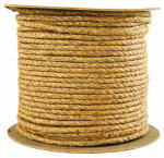 Wellington Cordage 29985 1/2-Inch x 600-Ft. Twisted Manila Rope