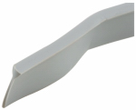 Prime Line Products T 8681 Storm Door Sweep, V-Shape, Gray Vinyl, 1/8 x 1/2 x 37-In.