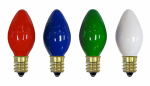 Noma/Inliten-Import 1074A-88 Christmas Lights Replacement Bulb, C7, Multi-Color Ceramic, 4-Pk.