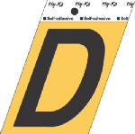 Hy-Ko Prod GG-25/D 3-1/2-Inch Black/ Gold Aluminum Adhesive Letter D