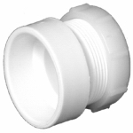 Charlotte Pipe & Foundry PVC 00104P 0800HA Female Trap Adapter, PVC/DWV, H x SJ, White,, 1.5 x 1.5-In.