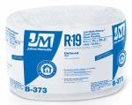 "Johns Manville Intl 90003721 R19 Unfaced Fiberglass Insulation, 48.96 Sq. Ft. Coverage, 6.5"" x 15"" x 39' 2"" Roll"