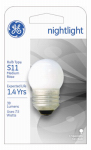 G E Lighting 41267 Night Light Bulb, White, 7.5-Watt