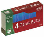 Noma/Inliten-Import 1074B-88 Christmas Lights Replacement Bulb, C7, Blue Ceramic, 4-Pk.