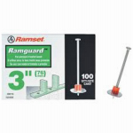 Itw Brands 09176 Ramguard Drive Pin With Washer, .300 x 3-In., 100-Pk.