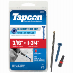 Itw Brands 24355 Tapcon 3/16 x 1-3/4-Inch Concrete Anchors with Phillips Flat Head, 75-Pack