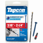 Itw Brands 24360 Tapcon 3/16 x 2-1/4-Inch Concrete Anchors with Phillips Flat Head, 75-Pack