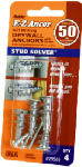 Itw Brands 29503 Stud Solver Drywall Anchors, Self-Drilling, Plastic, #50, 4-Pk.