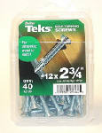 Itw Brands 21384 Teks #12 x 2-3/4-Inch Self-Tapping Phillips Wing-Head Screws, 40-Pack