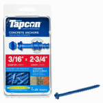 Itw Brands 24210 Tapcon 3/16 x 2-3/4-Inch Hex-Washer-Head Concrete Anchors, 25-Pack