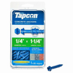 Itw Brands 24215 Tapcon 1/4 x 1-1/4-Inch Hex-Washer-Head Concrete Anchors, 25-Pack