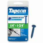 Itw Brands 24275 Tapcon 1/4 x 1-3/4-Inch Phillips Flat-Head Concrete Anchors, 25-Pack