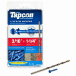 Itw Brands 24300 Tapcon 3/16 x 1-3/4-Inch Hex-Washer-Head Concrete Anchors, 75-Pack