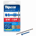 Itw Brands 24305 Tapcon 3/16 x 1-3/4-Inch Hex-Washer-Head Concrete Anchors, 75-Pack