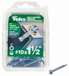 Itw Brands 21332 Drill Point Screws, Self-Tapping, Hex Washer Head, #10 x 1-1/2-In., 90-Pk.