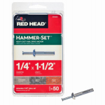 Itw Brands 35303 Hammer-Set Nail Drive Anchors, .25 x 1.5-In., 50-Pk.