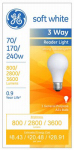 G E Lighting 15846 Reader Light Bulb, Soft White, 3-Way, 70/170/240-Watt