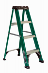 Louisville Ladder FS4004 4-Ft. Ladder, Fiberglass, Type II, 225-Lb. Medium Duty Rating